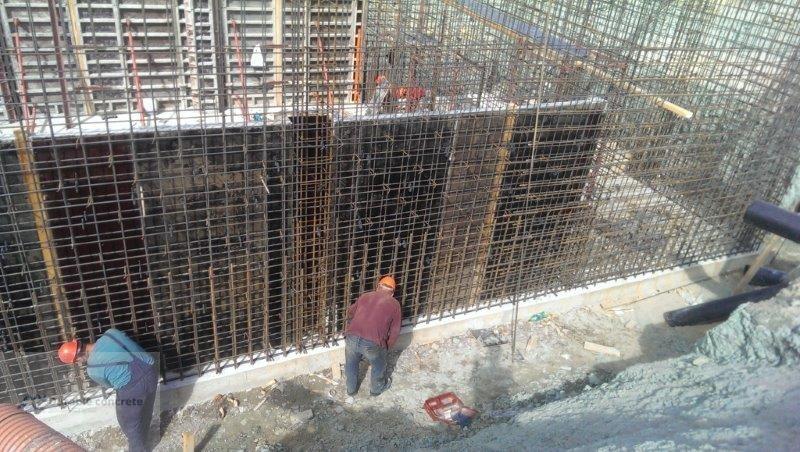 Гидроизоляция фундамента из монолитного бетона.
